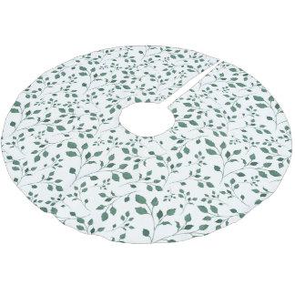 Het groene Patroon van de bladerenwaterverf | Kerstboom Rok