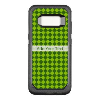 Het groene Patroon van de Diamant van de OtterBox Commuter Samsung Galaxy S8 Hoesje