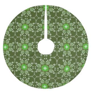 Het groene patroon van de Poinsettia van Kerstmis Kerstboom Rok