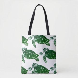 Het groene Patroon van de Schildpad van het Zee Draagtas