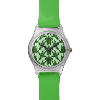 Het groene Patroon van de Schildpad van het Zee Polshorloge