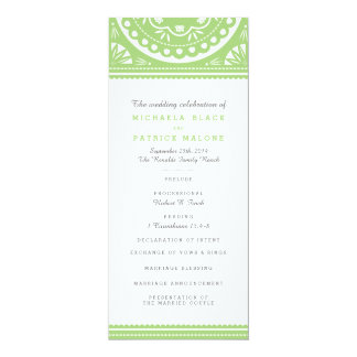 Het Groene Programma van het Huwelijk van Picado 10,2x23,5 Uitnodiging Kaart