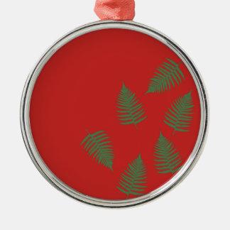 Het groene Rode Ornament van de Vakantie van de