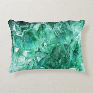 Het groene smaragdgroene mineraal van de gemsteen accent kussen