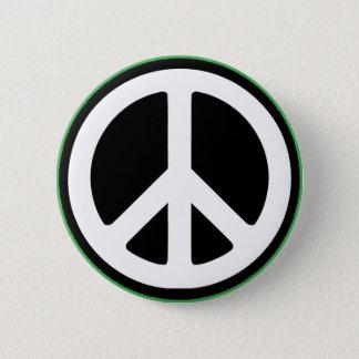 Het Groene Symbool van de vrede! Ronde Button 5,7 Cm