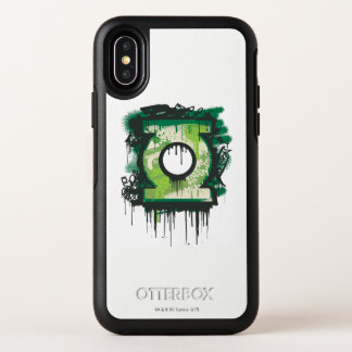 Het groene Symbool van Graffiti van de Lantaarn OtterBox Symmetry iPhone X Hoesje