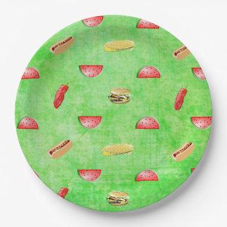 Het groene Tafelkleed Veggies en Burgers van de Papieren Bordje