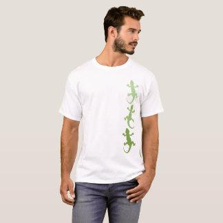 Het groene Trio van de Gekko Ombre T Shirt