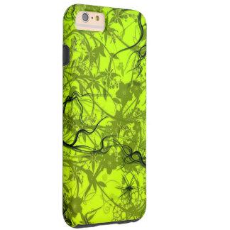 het groene vectorart. van wervelingsflovers iPhone 6 plus tough case