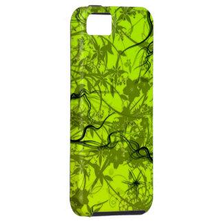 het groene vectorart. van wervelingsflovers iPhone 5 cover