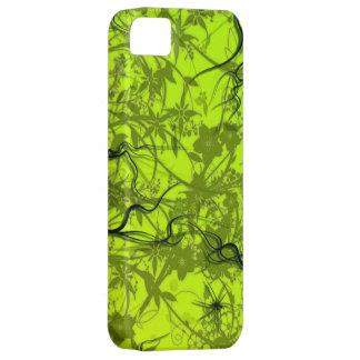 het groene vectorart. van wervelingsflovers Case-Mate iPhone 5 hoesjes