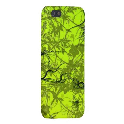 het groene vectorart. van wervelingsflovers iPhone 5 hoesje