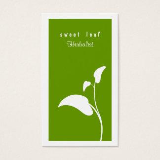 Het groene Visitekaartje van de Kruidkundige van Visitekaartjes