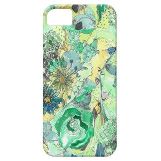Het groene Waterverf Geschetste Hoesje van iPhone