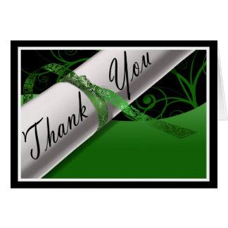 Het groene & Witte Diploma dankt u kaardt Notitiekaart