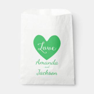 Het groene & Witte Huwelijk van de Liefde van het Bedankzakje