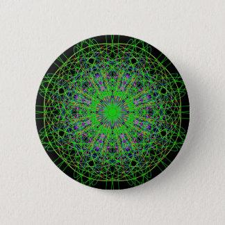 Het groene Zwarte Art. van Mandala van de Ronde Button 5,7 Cm