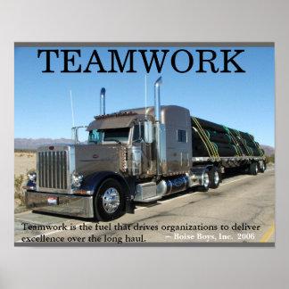 Het Groepswerk van de vrachtwagen Poster