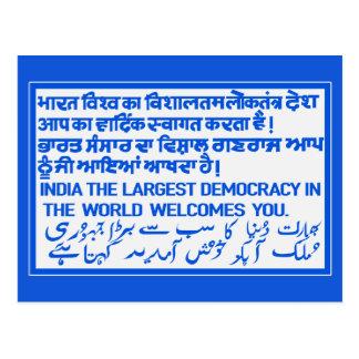 Het grootste Teken van de Democratie, India Briefkaart