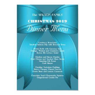 Het grote Blauwe Menu van het Diner van Kerstmis Kaart