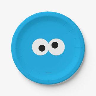 Het Grote Gezicht van het Monster van het koekje Papieren Bordje