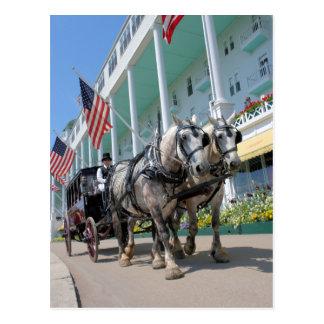 Het grote Hotel - Mackinac Eiland, Michigan Briefkaart