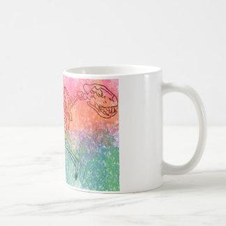 Het grote kattenskelet watercolour ploetert Helder Koffiemok