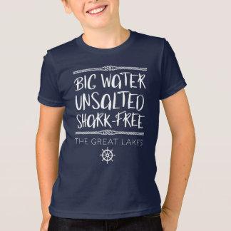 Het grote Meer: Groot, Ongezouten, haai-Vrij T Shirt