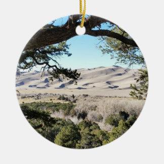 Het grote Nationale Park van de Duinen van het Rond Keramisch Ornament