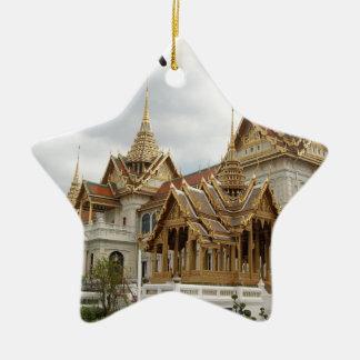 Het grote (nieuwe) paleis van Thailand Bangkok Keramisch Ster Ornament