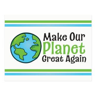 Het Grote opnieuw Briefkaart van de planeet
