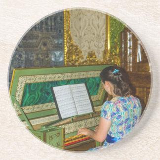Het Grote Paleis Tsarskoye Selo Harpsichor van Zandsteen Onderzetter