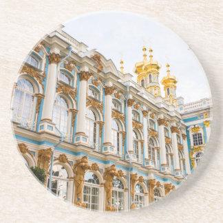 Het Grote Paleis Tsarskoye Selo van Catherine Zandsteen Onderzetter