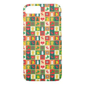 Het grote Patroon van Kerstmis iPhone 8/7 Hoesje