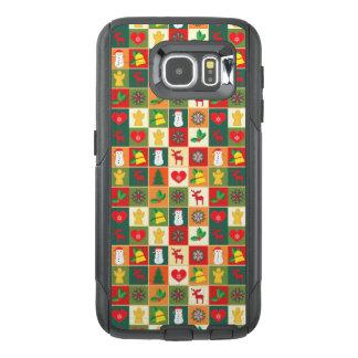 Het grote Patroon van Kerstmis OtterBox Samsung Galaxy S6 Hoesje