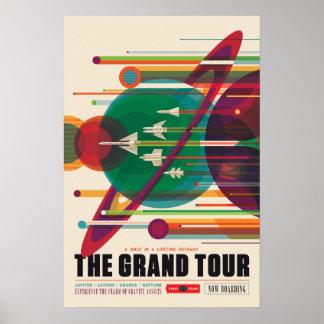 Het grote Poster van de Ruimtevaart van de Reis