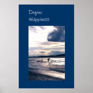 Het grote Poster van het Geluk van de Foto van de