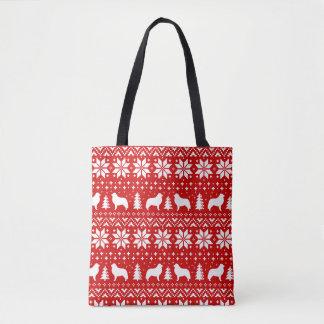 Het grote Rood van het Patroon van Kerstmis van de Draagtas