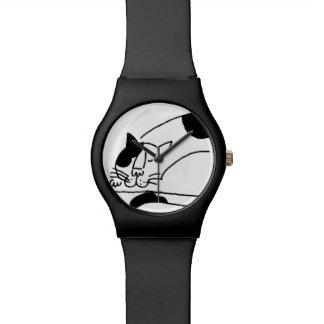 Het grote Vette Slaperige Horloge van de Kat