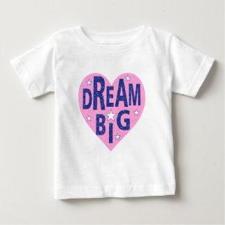 Het grote vintage hart van de droom baby t shirts