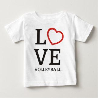 Het grote Volleyball van de LIEFDE Baby T Shirts