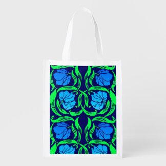 Het Guichelheil van William Morris, Blauw en Groen Herbruikbare Boodschappentas