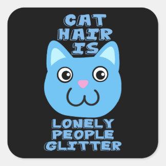 Het Haar van de kat Vierkante Sticker