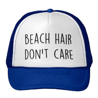 Het Haar van het strand geeft niet Trucker Petten