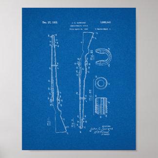 Het halfautomatische Octrooi van het Geweer - Poster