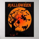 Het Halloween Achtervolgde Poster van de Plaats