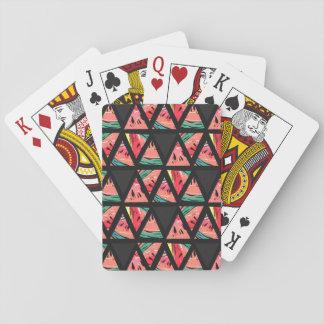 Het hand Getrokken Abstracte Patroon van de Pokerkaarten