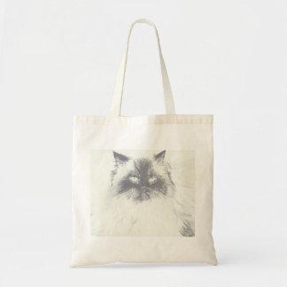 Het hand Getrokken Canvas tas van de Kat