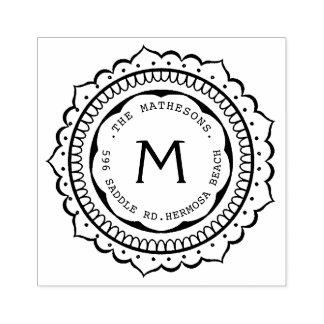 Het hand Getrokken Etiket van het Adres van het Rubberstempel