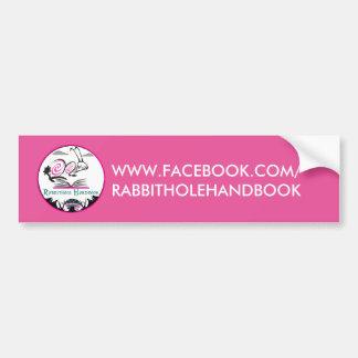 Het HANDBOEK van de Sticker RABBITHOLE van de